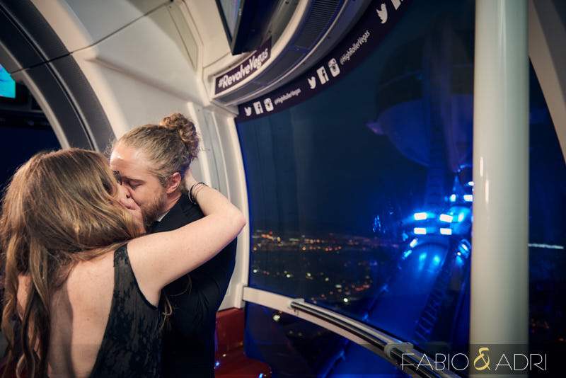 The Linq Wedding High Up in The Sky High Roller
