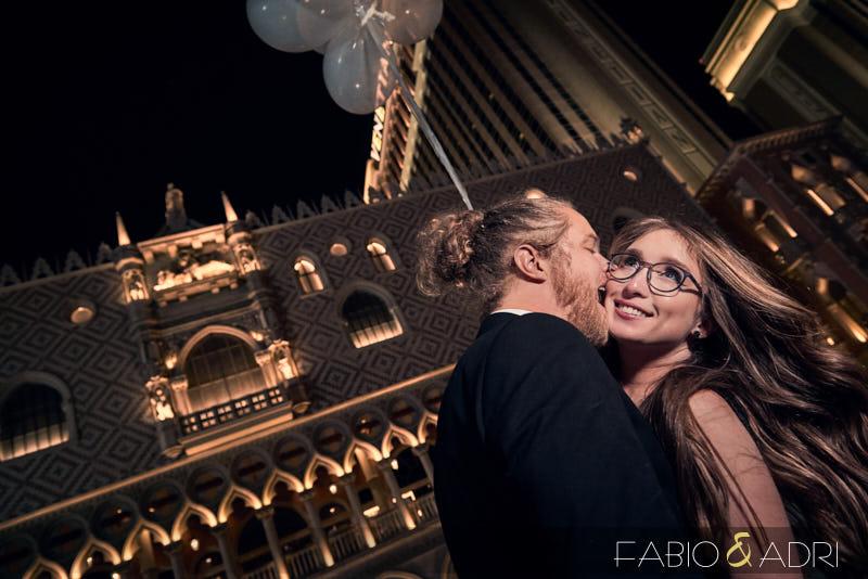 Las Vegas Strip Bride and Groom Photo