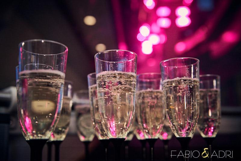 High Roller Wedding Champagne