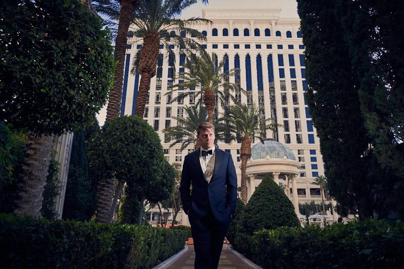Groom Portrait Caesars Palace Las Vegas