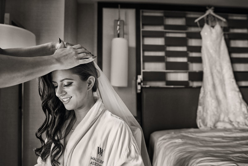 Bride Getting Ready Waldorf Astoria Las Vegas