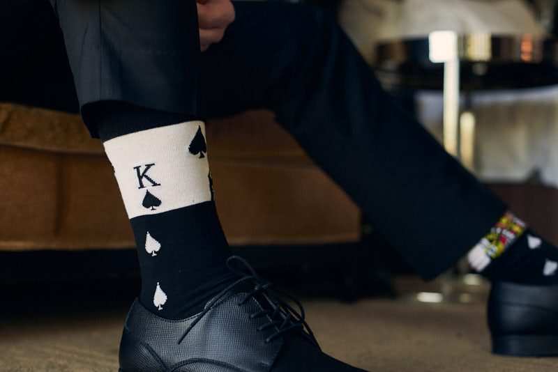 Groom King of Spades Socks Las Vegas