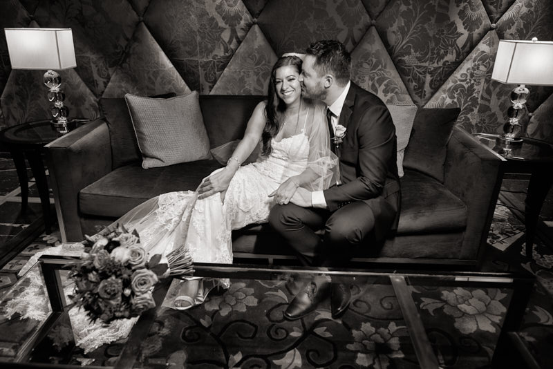 Bride and Groom Waldorf Astoria Las Vegas