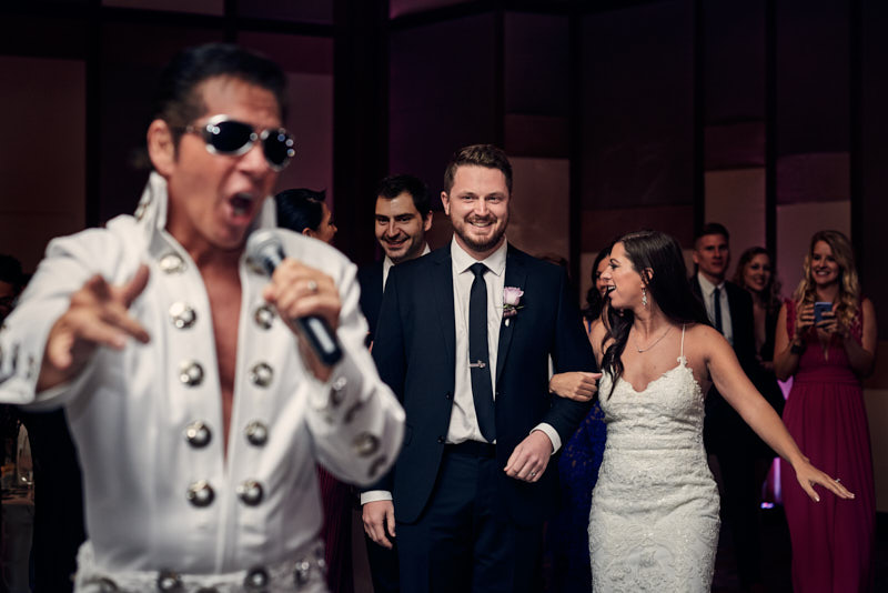 Wedding Grand Entrance with Elvis Waldorf Astoria Las Vegas