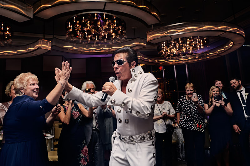 Wedding Reception with Elvis Waldorf Astoria Las Vegas