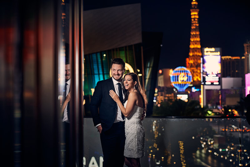 Waldorf Astoria Las Vegas Balcony View Wedding